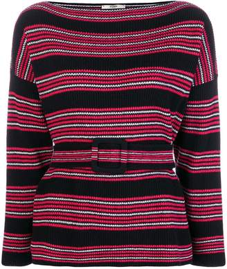 Fendi long-sleeve striped sweater