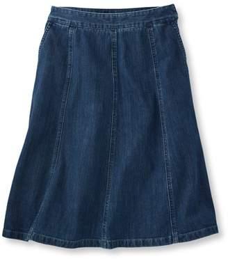 L.L. Bean L.L.Bean Gored Skirt, Denim