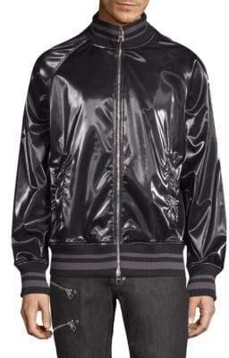 Versace Shiny Full Zip Bomber Jacket