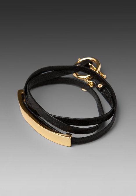 gorjana Graham Leather Bar Triple Wrap Bracelet