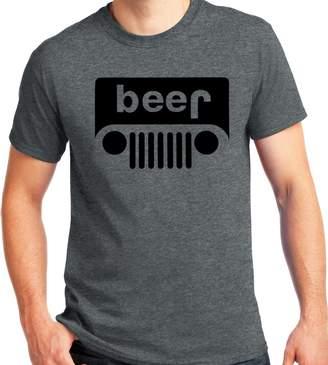 Wrangler LiberTEES Beer Jeep Parody Logo Dark Heather T Shirt Big and Tall Sizes