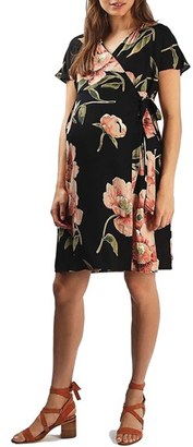Women's Topshop Floral Print Wrap Maternity Dress $90 thestylecure.com