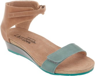 Naot Footwear Leather High Back Strap Wedge Sandals - Prophecy