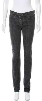 Karl Lagerfeld Mid-Rise Straight-Leg Jeans