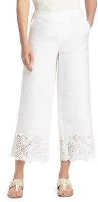 Lafayette 148 New York Morton Embroidered Linen Pants