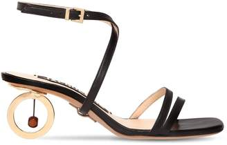 90mm Perola Leather Sandals