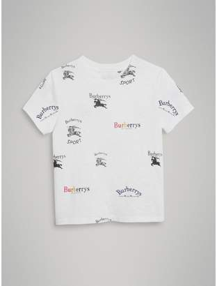 Burberry Childrens Archive Logo Print Jersey T-shirt