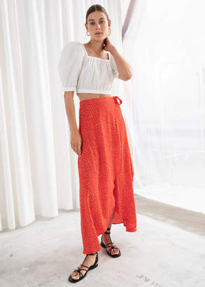 And other stories Asymmetric Wrap Midi Skirt