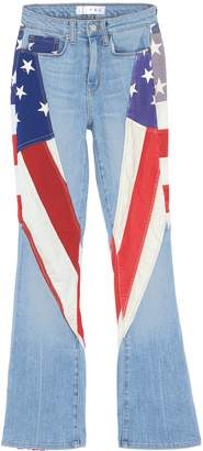 TRE by Natalie Ratabesi Flag panel flared jeans
