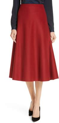 BOSS Vermana Wool & Cashmere Flare Skirt