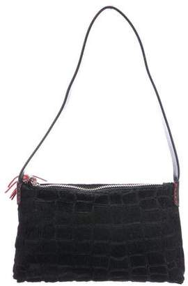 Henry Beguelin Embossed Ponyhair Mini Bag