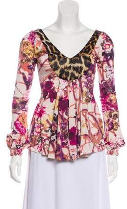 Just Cavalli Abstract Print Blouse