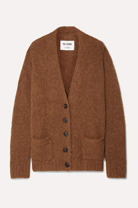 RE/DONE 90s Oversized Knitted Cardigan - Light brown