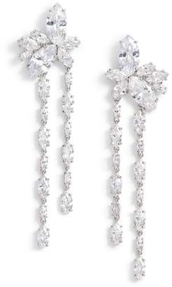 Nina Floral Stone Cluster Drop Earrings