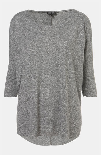 Topshop Burnout Drop Shoulder Top Grey 6