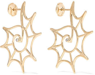 Leon Yvonne 9-karat Gold Diamond Earrings