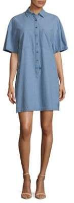 Derek Lam 10 Crosby Short-Sleeve Cotton Shirtdress