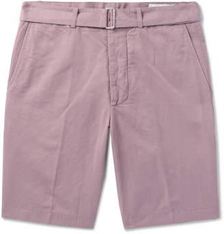 Officine Generale Julian Slub Cotton And Linen-Blend Shorts