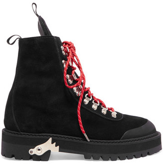 Off-White - Hiking Suede Boots - Black $930 thestylecure.com