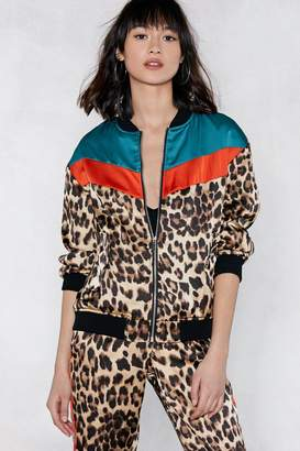 Nasty Gal Can't Fight This Feline Leopard Bomber Jacket