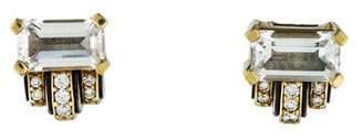 Lagos White Topaz & Diamond Earrings