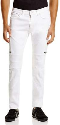 HUGO Moto Super Slim Fit Jeans in White - 100% Exclusive $225 thestylecure.com