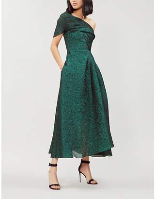 Roland Mouret Norton metallic organza dress