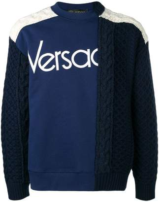 Versace jersey and knit sweater