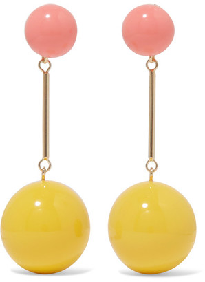 J.W.Anderson - Gold-tone Resin Earrings - Yellow $440 thestylecure.com