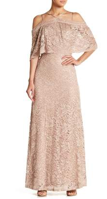 Marina Sequin Lace Gown