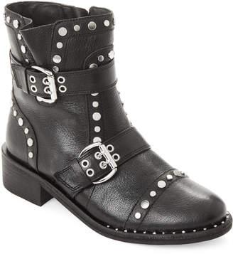 Sam Edelman Black Drea Studded Leather Ankle Boots