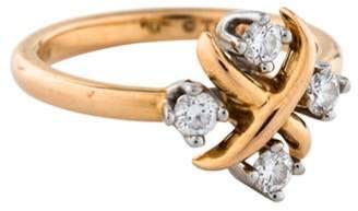 Tiffany & Co. 18K & Platinum Diamond Lynn Ring yellow 18K & Platinum Diamond Lynn Ring