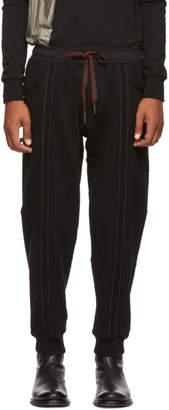 Ziggy Chen Black Vertical Stripe Lounge Pants