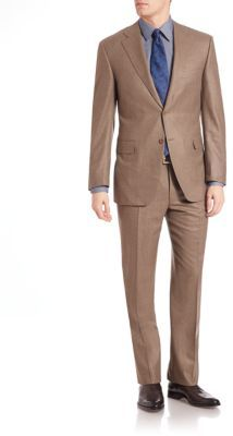 Canali Canali Wool Flannel Suit