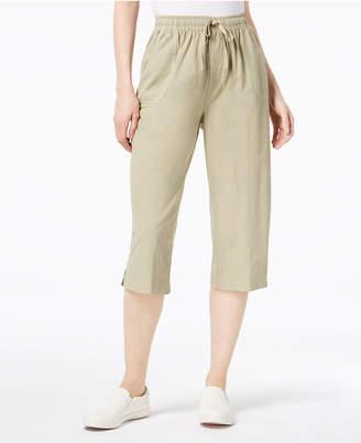 Karen Scott Cotton Drawstring Capri Pants, Created for Macy's
