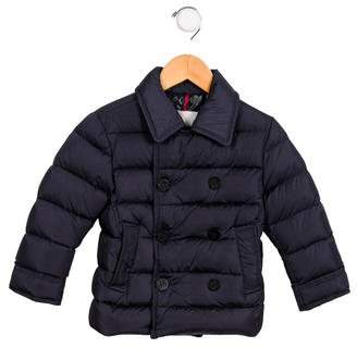 Moncler Boys' Double Breasted Puffer coat