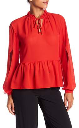 Laundry by Shelli Segal Flounce Hem Blouse