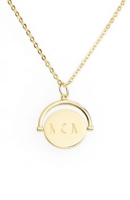 Women's Lulu Dk Mom Love Letters Spinning Pendant Necklace $68 thestylecure.com