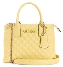 GUESS Elina Quilted Satchel