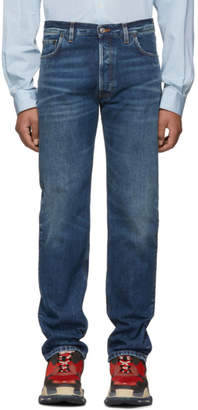 Balenciaga Blue Original Five-Pocket Jeans
