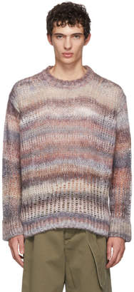 Acne Studios Multicolor Striped Open Weave Sweater