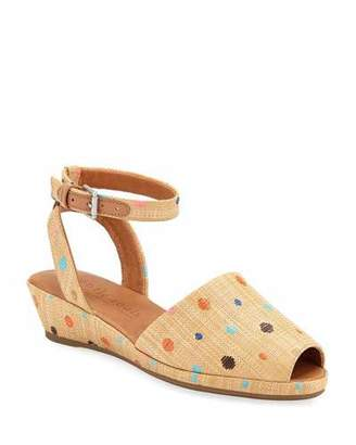 Gentle Souls Lily Polka-Dot Demi-Wedge Sandals