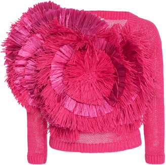 DELPOZO Fringed Cotton Sweater $2,450 thestylecure.com