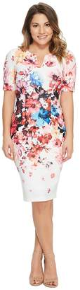 Adrianna Papell Petite Spring in Bloom Printed Sheath Women's Dress
