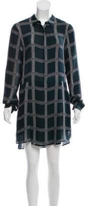 A.L.C. Plaid Silk Dress