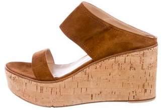 Gianvito Rossi Suede Platform Sandals