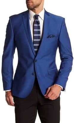 Nick Graham Blue Two Button Notch Lapel Trim Fit Sport Coat