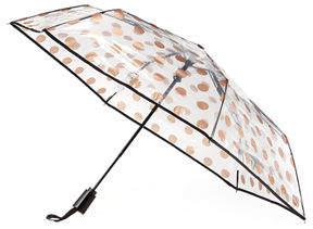 ShedRain Auto-Open Compact Polka-Dot Bubble Umbrella, 43""
