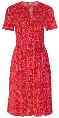 Cath Kidston Womens Red Scattered Spot Tea Dress - Red