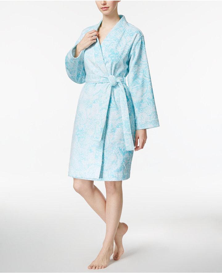 Lauren Ralph LaurenLauren Ralph Lauren Printed Cotton Terry Wrap Robe